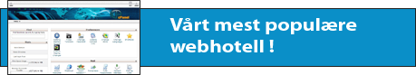 Standard cPanel Webhotell